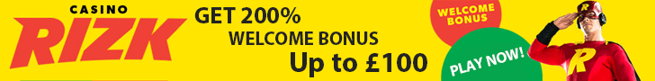 Risk banner bonus offer £100 100% welcome promo
