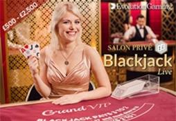 Blackjack salon Prive